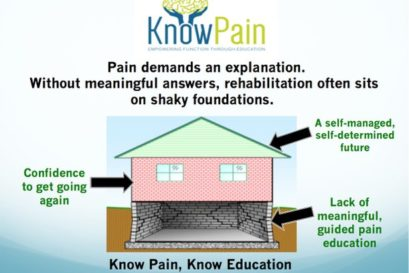 Getting to Know your pain is the first step to rehabilitation